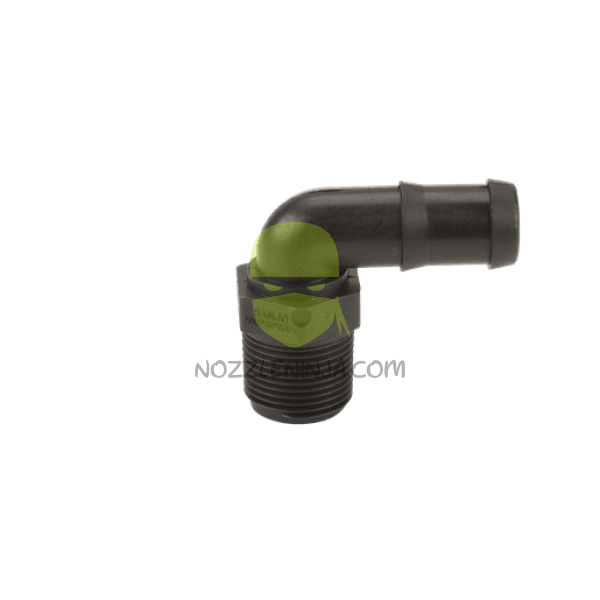 HOSE BARB Elbow  90 DEG , MALE THREAD x HOSE, .75inch,
