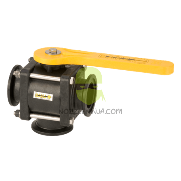 2 inch Full port three way Bottom Load Ball Valve