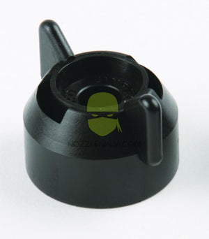 CAP- SHUTOFF- BLACK W SEAL
