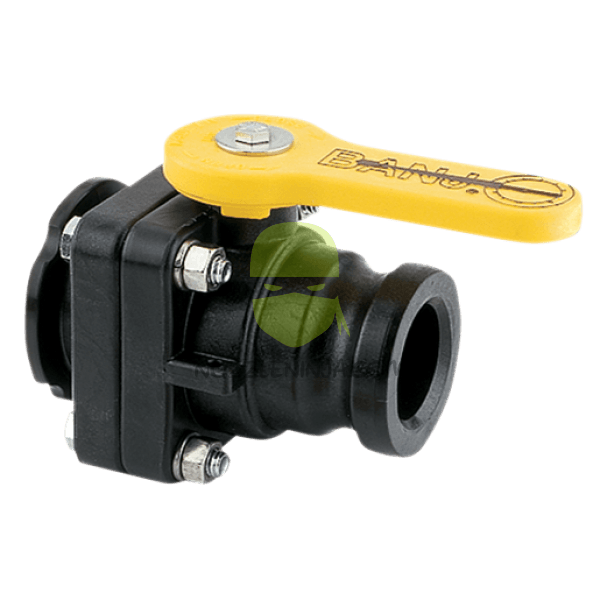 "M200 Standard Port valve to 2"" male Camlock"