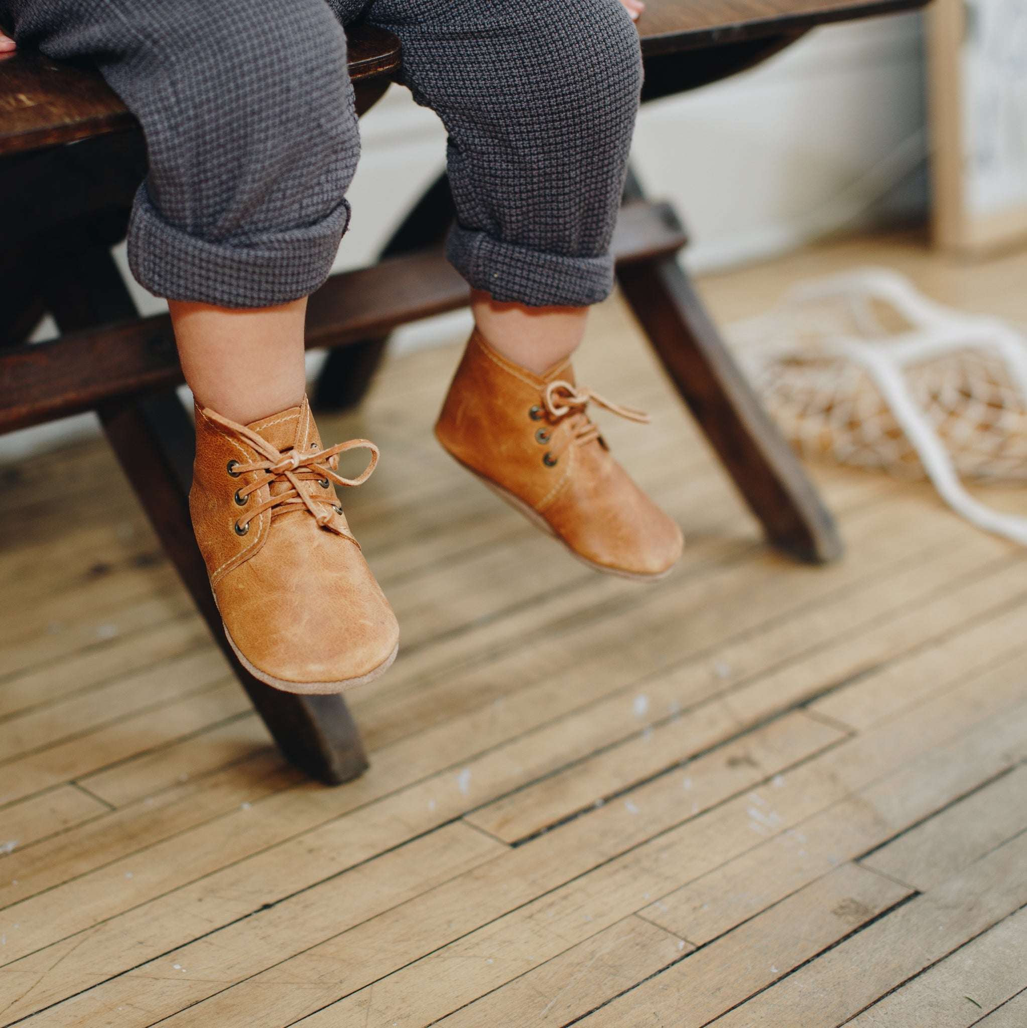 SALE Desert Boots - forest (one pair left SIZE 1 !)