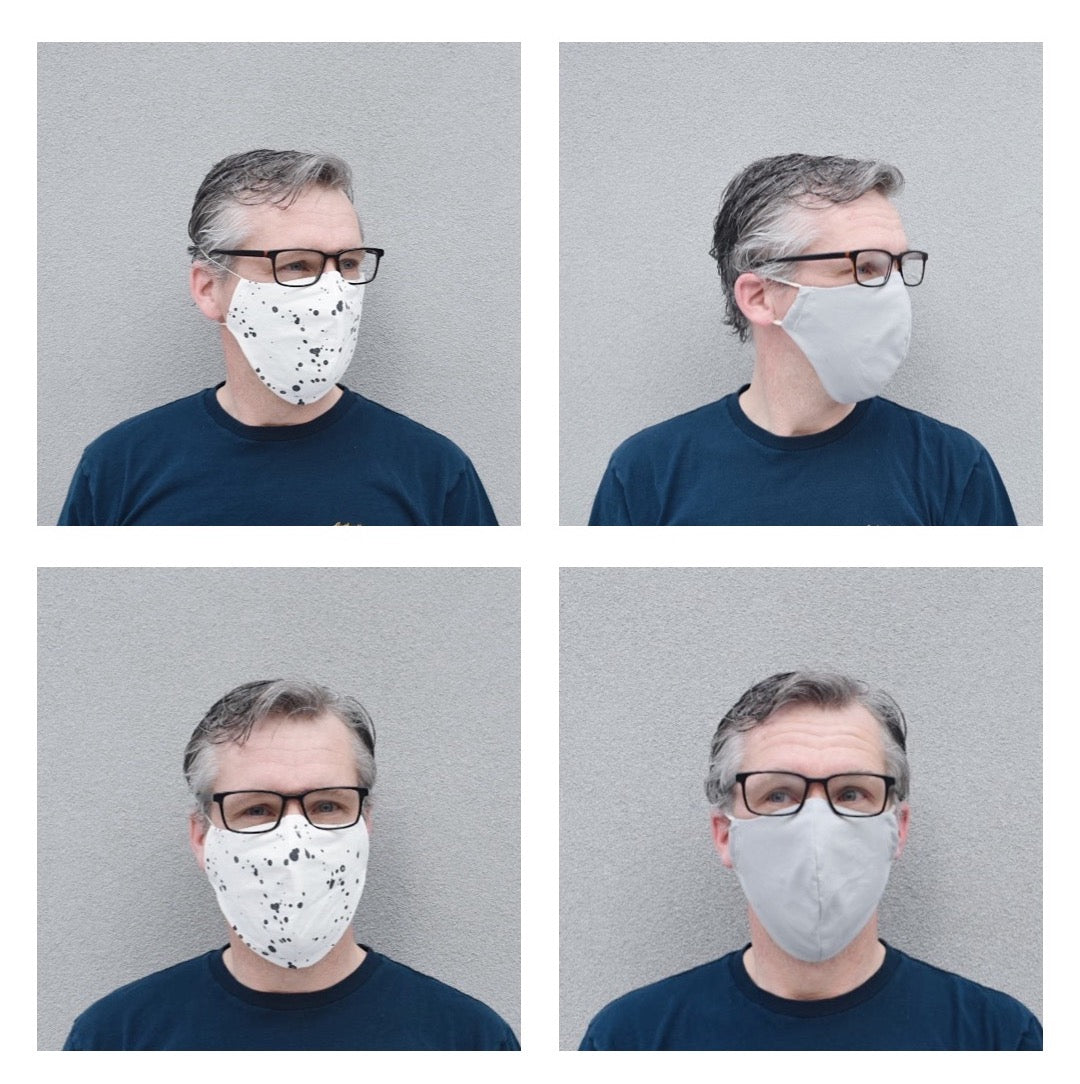Adult - non medical face covering with tie -includes pocket for filter