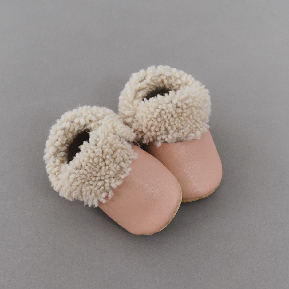 Shearling Lined Shoes - pink (ready to ship)