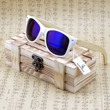 Bamboo Wood Polarized Sunglasses With Reflective Mirror Tint
