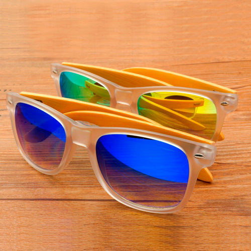 Polarized Bamboo Sunglasses with Blue or Yellow Lens
