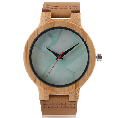 Bamboo Watch with Marble Pattern