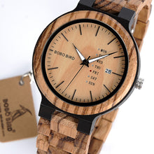 Men's Watch With Full Wood Band and 2 Face Colors