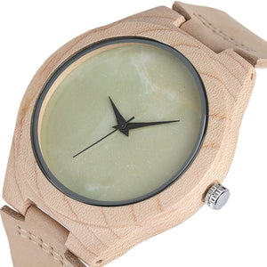 Wooden Watch with Marble dial