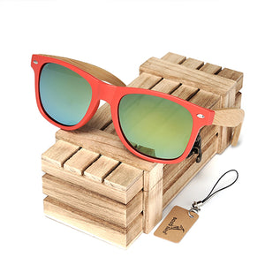 Red Frame Colorized Unisex Sunglasses
