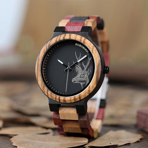 Unique Wooden Strap Men's Watch
