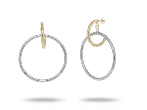 Silver & Gold Floating Hoops