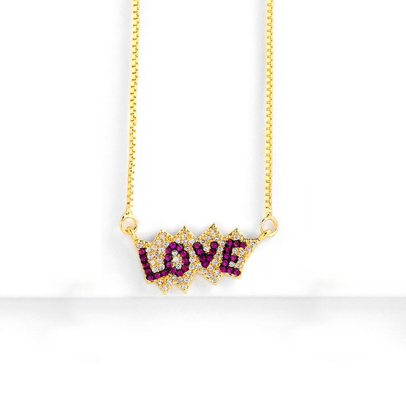 Pink Love Pav'e Necklace