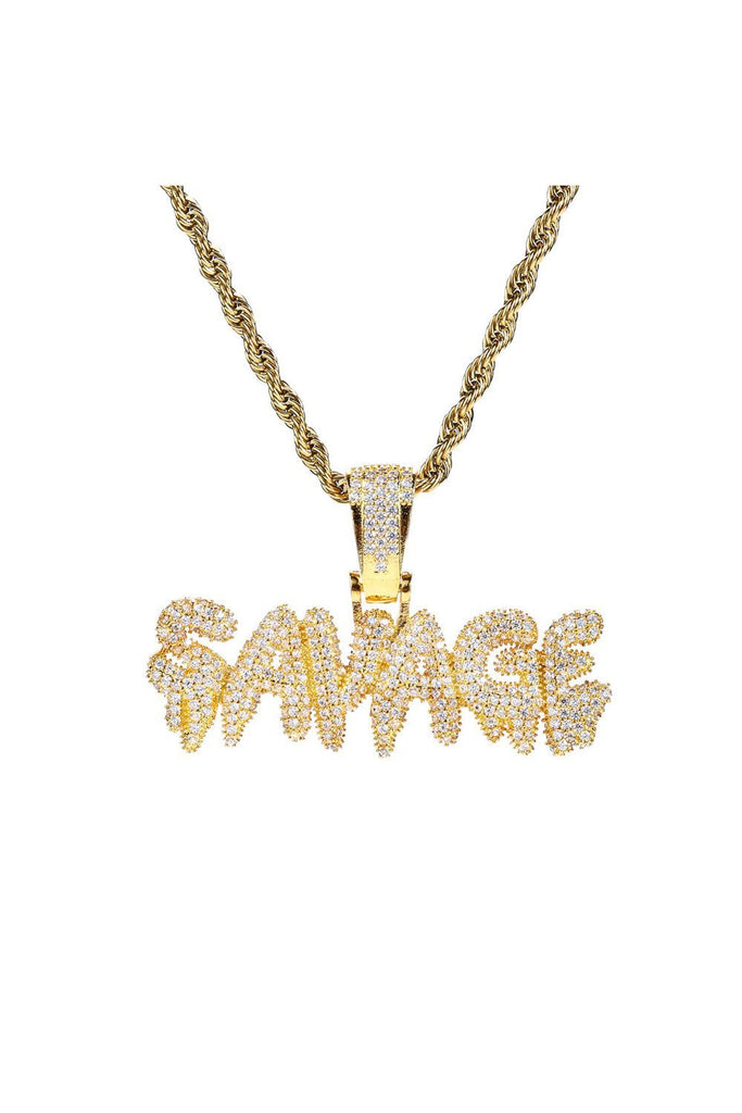 Icy SAVAGE Necklace in 18K Gold Fill