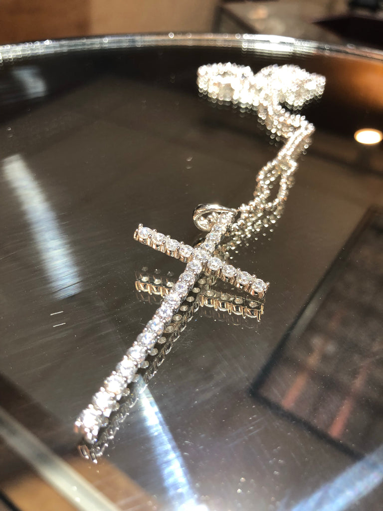 Oversized Sterling Silver Cross
