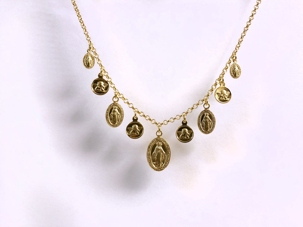 Dripping Saints Necklace (Gold)