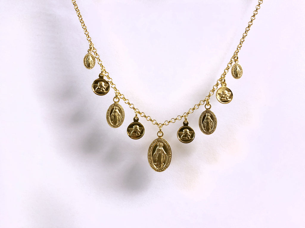Dripping Saints Necklace (Gold) - House of Fine Gold