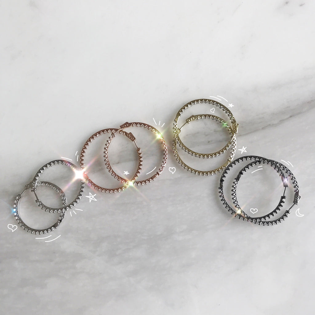 "Shorty Hoop Earrings 40"" (small)"