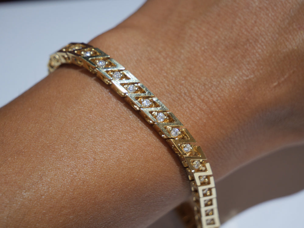 ZZ Diamond Bracelet (2 size opt)