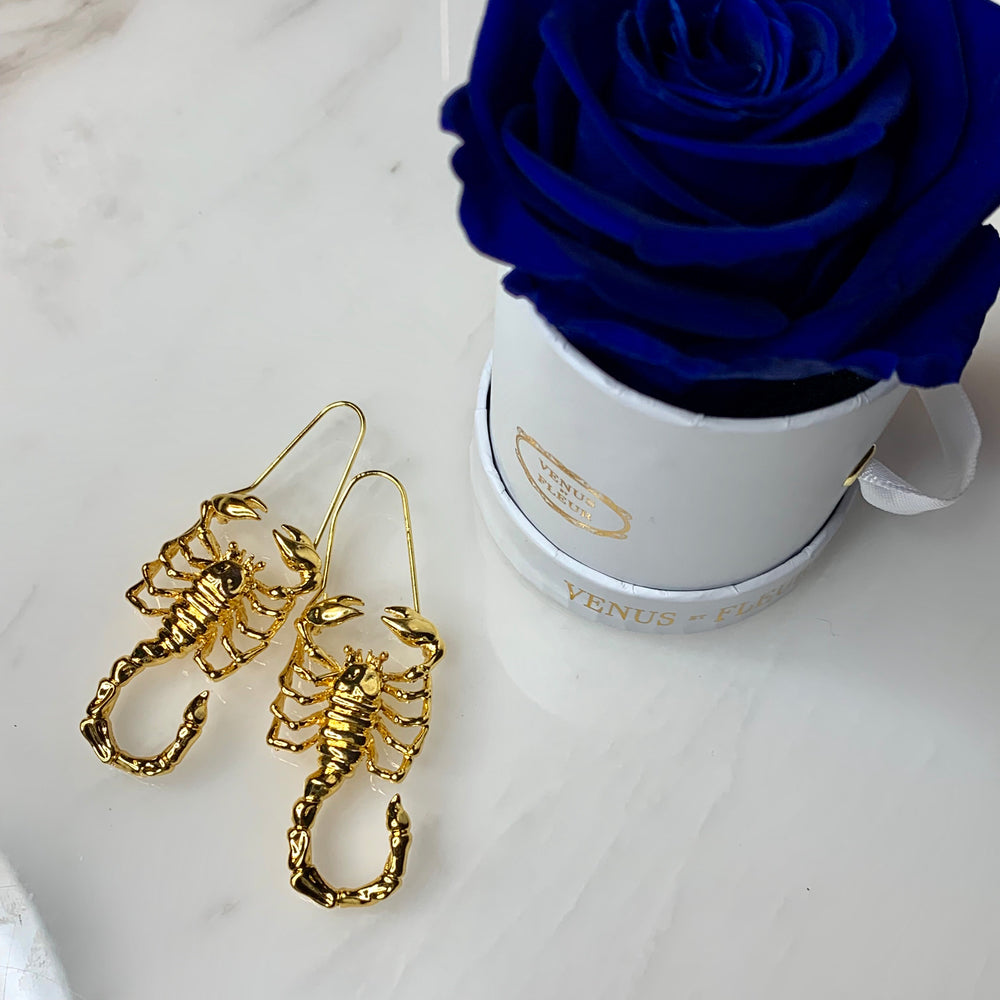 Gold Scorpio Zodiac Earrings - House of Fine Gold