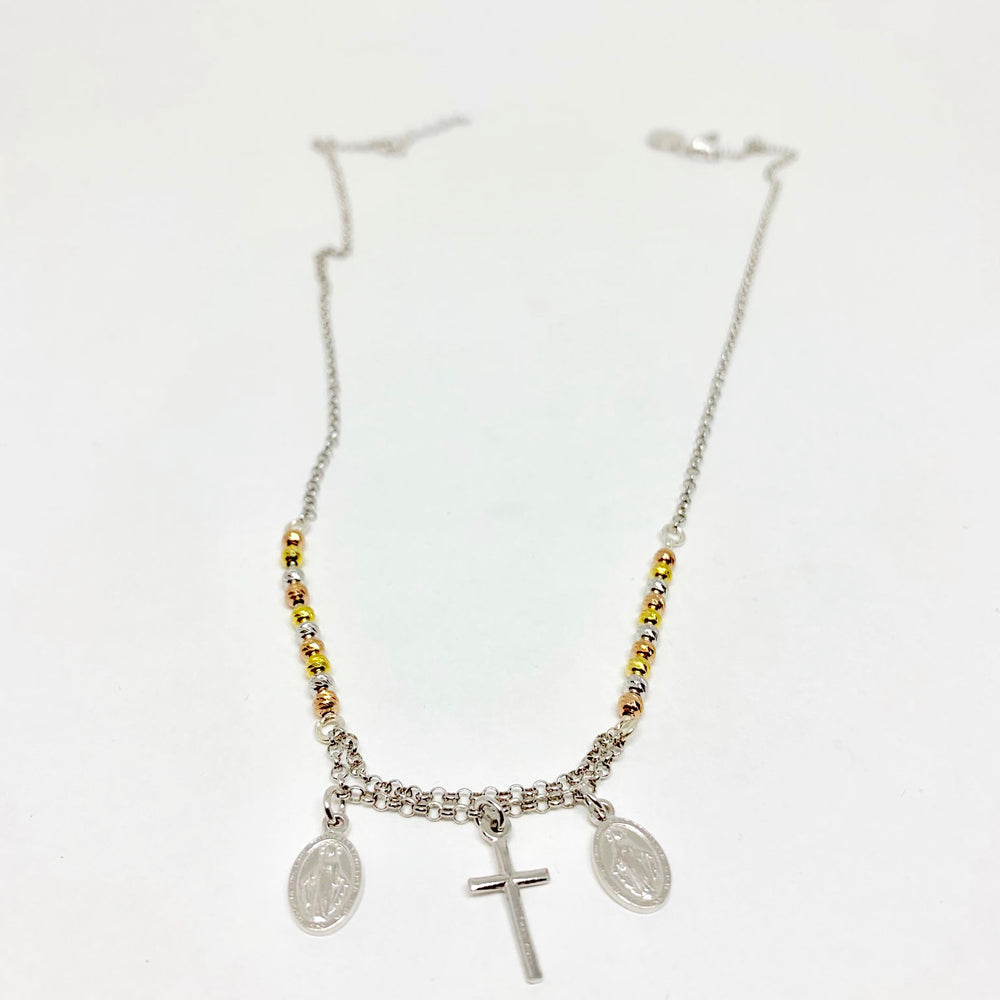 Sterling Silver Rainbow Rosary Chain