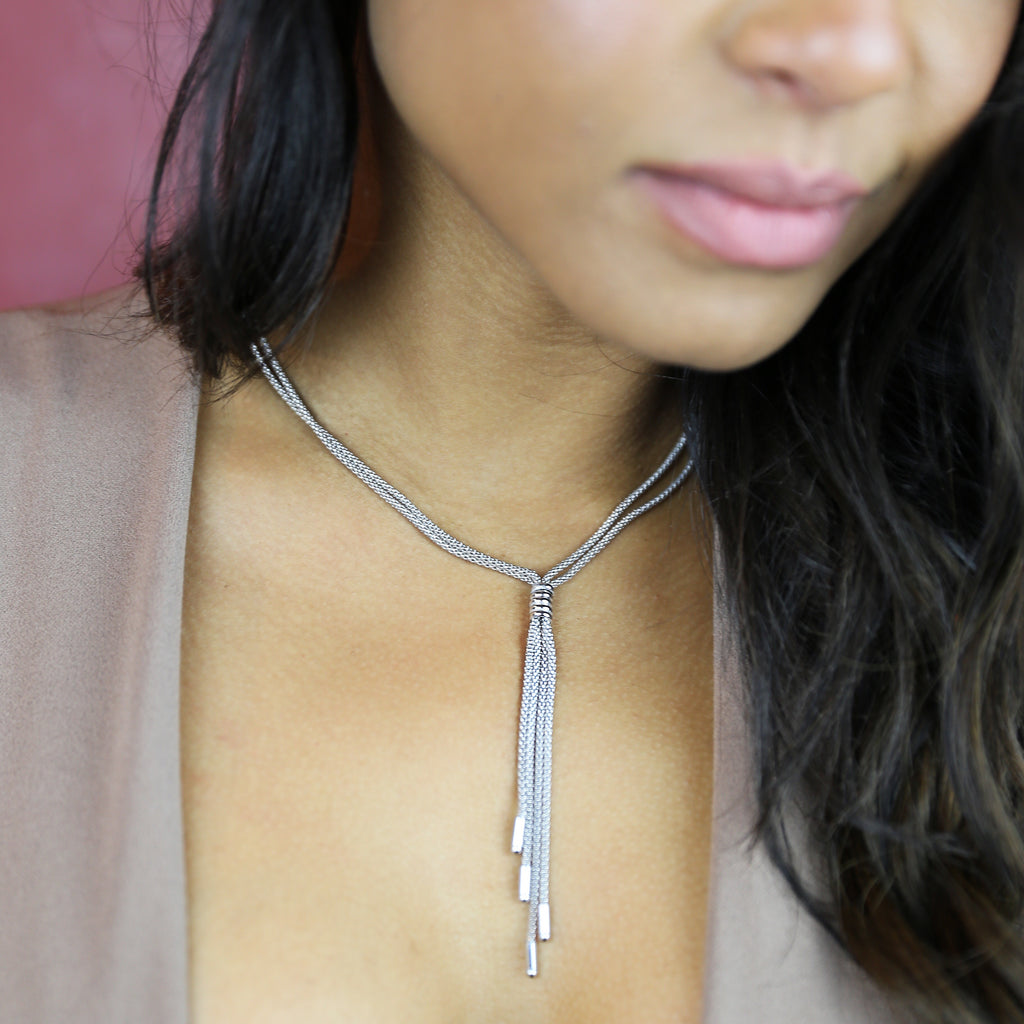 LOVE tie Necklace Sterling Silver