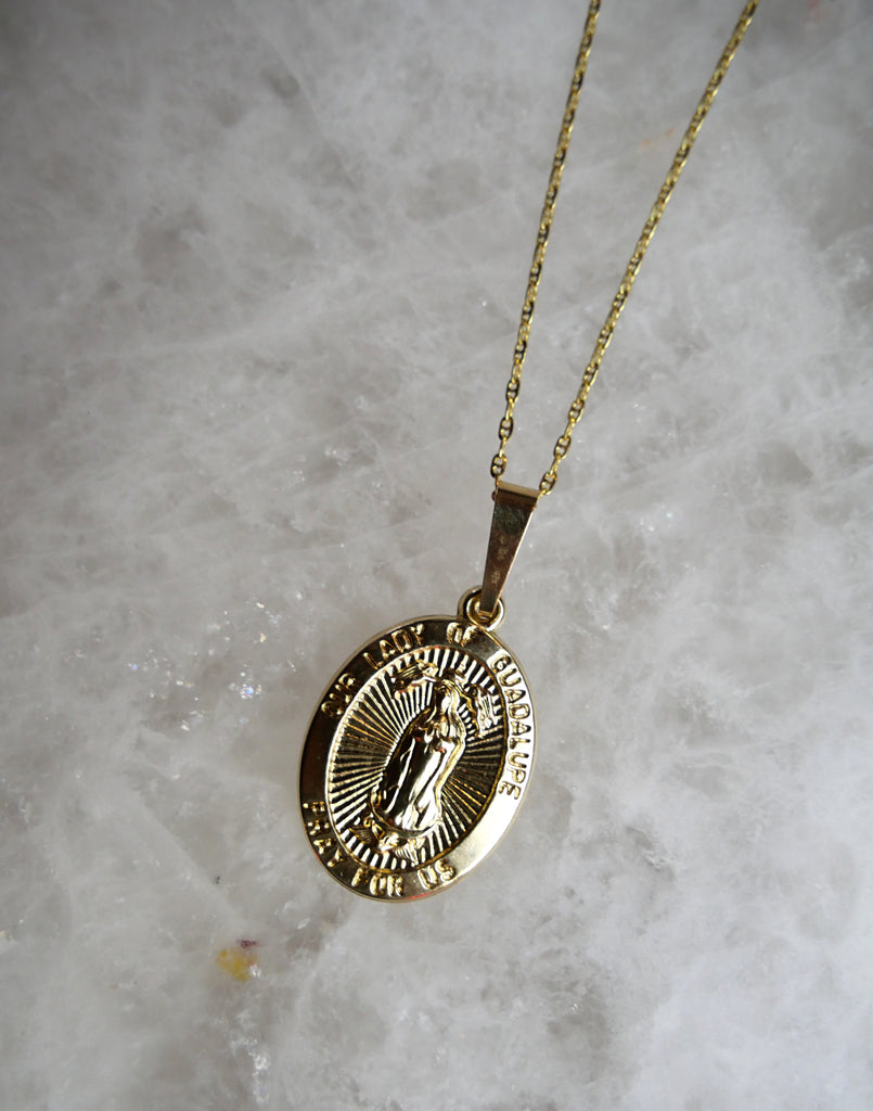 14k gold guadalupe pendant - House of Fine Gold