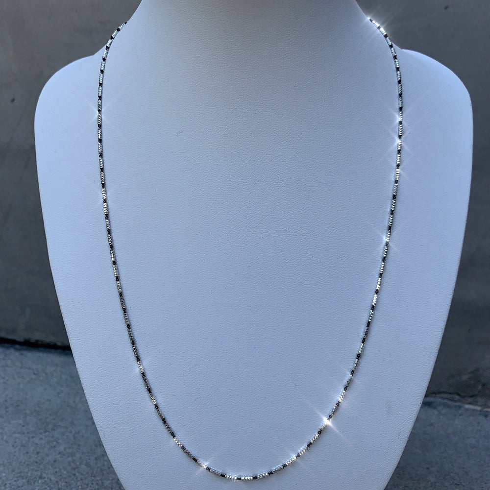 Black & White Sterling Silver Chain