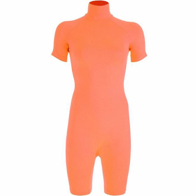 Zanni   Neon Turtleneck Playsuit