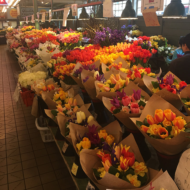 Flowers at Pike Place Market, Seattle WA