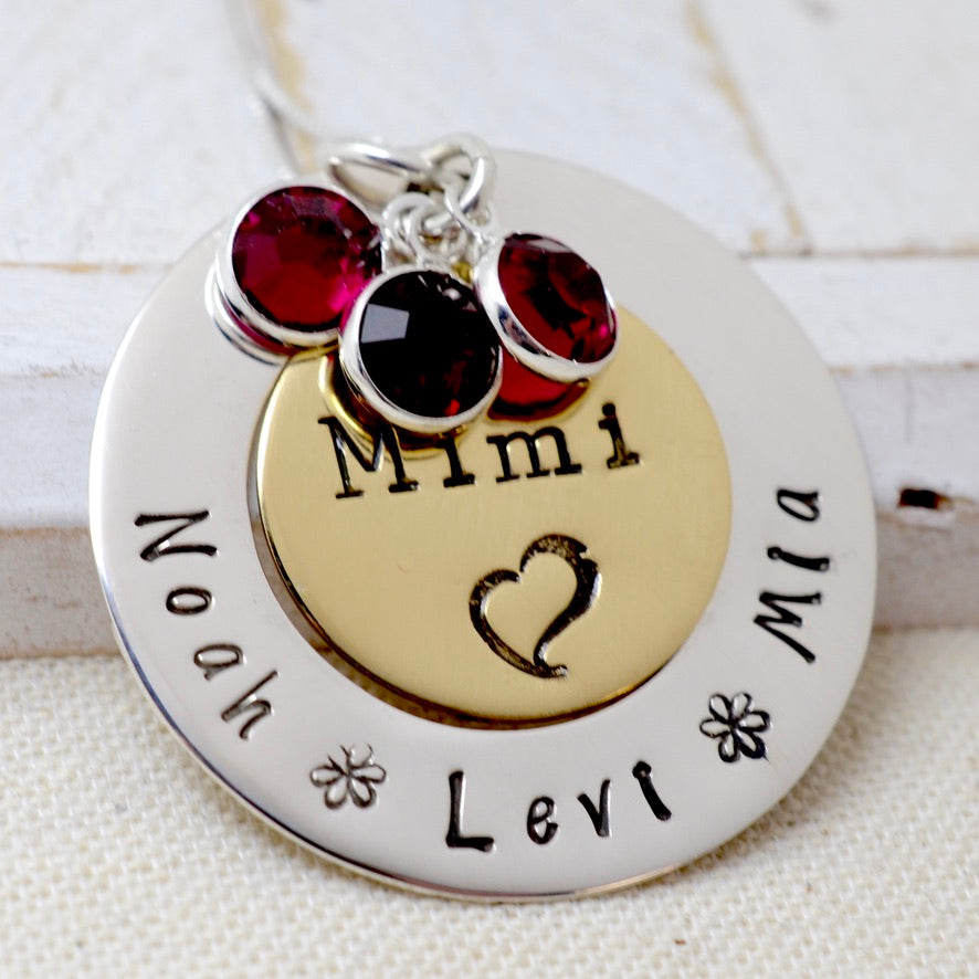 Grandma Necklace with Birthstones - Love It Personalized