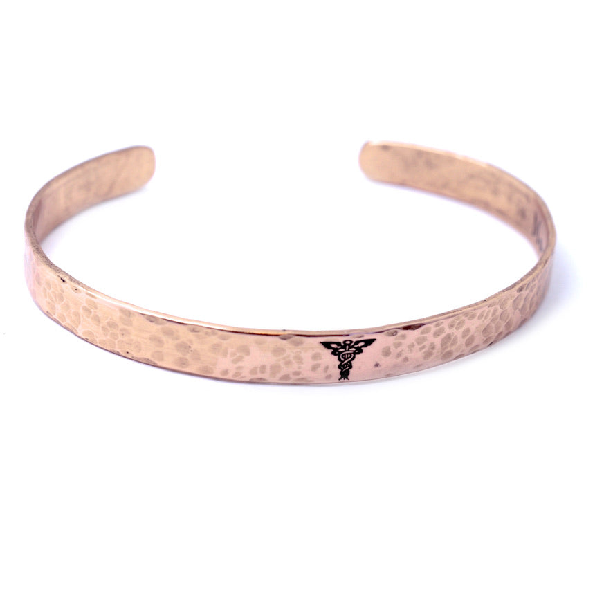 Medical Alert Cuff Bracelet - Copper 1/4 in - Love It Personalized