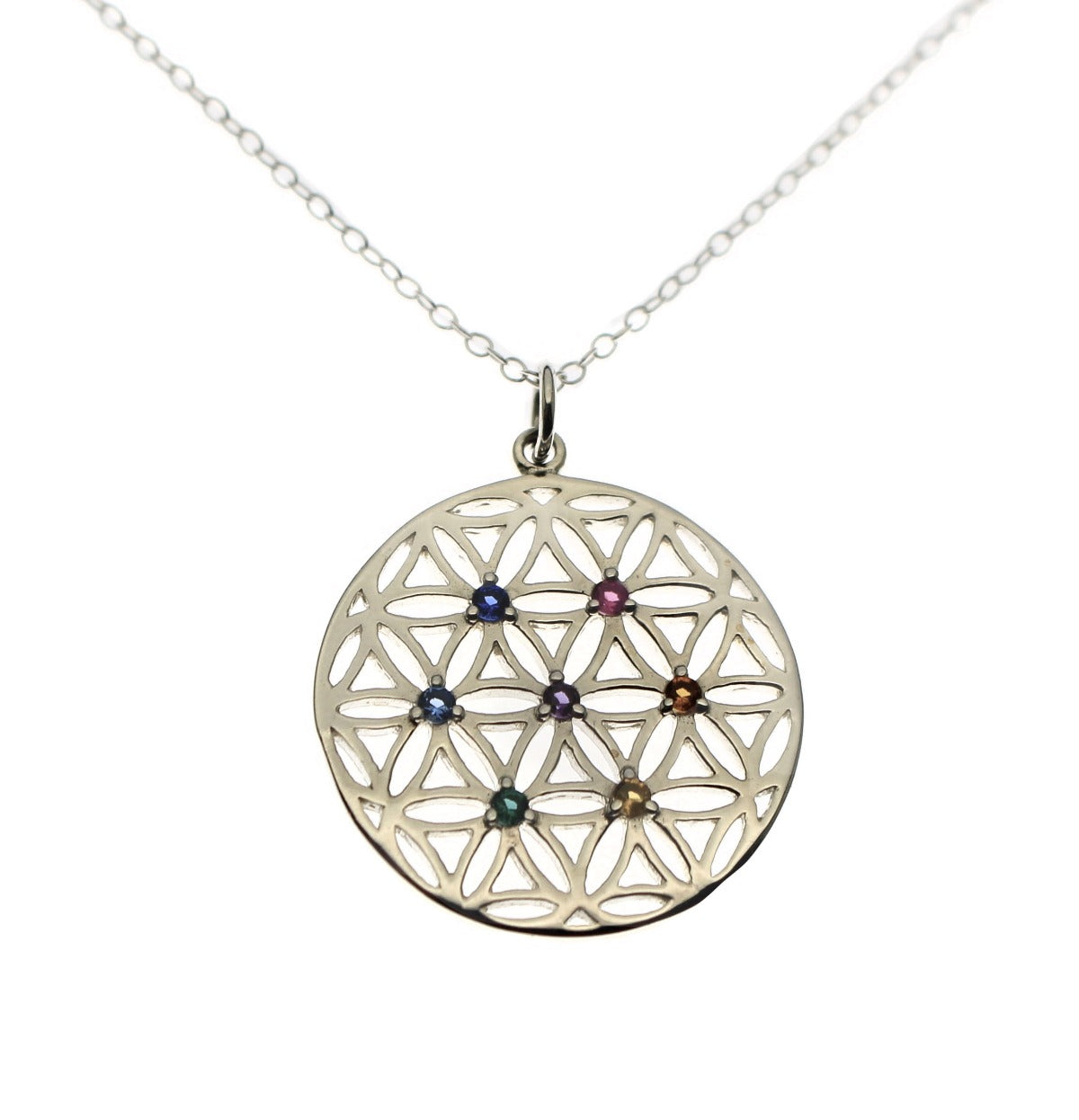 Chakra Crystals Flower of Life Necklace - Love It Personalized