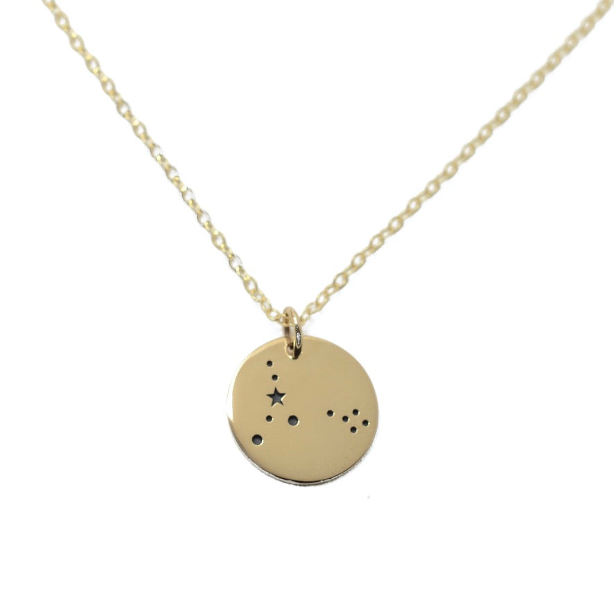 Pisces Zodiac Sign 14K Gold Filled Constellation Necklace - Love It Personalized