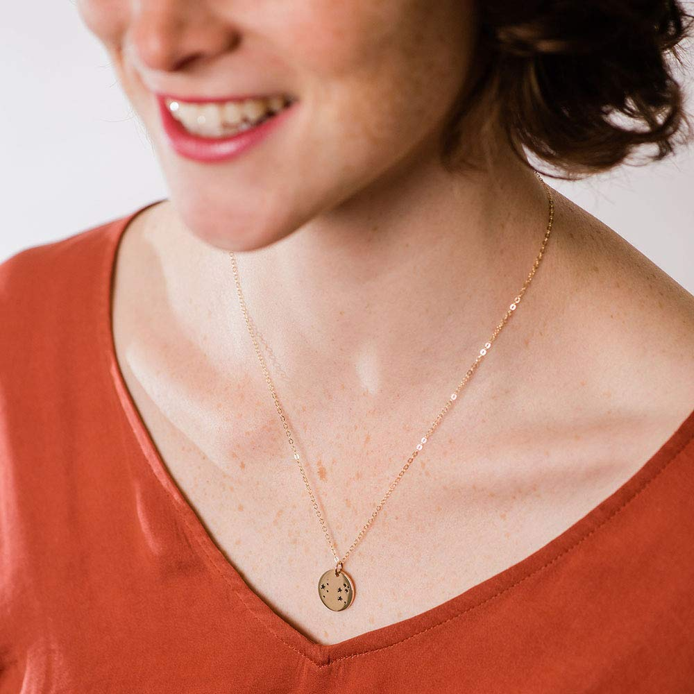 Scorpio Zodiac Sign 14K Gold Filled Constellation Necklace - Love It Personalized