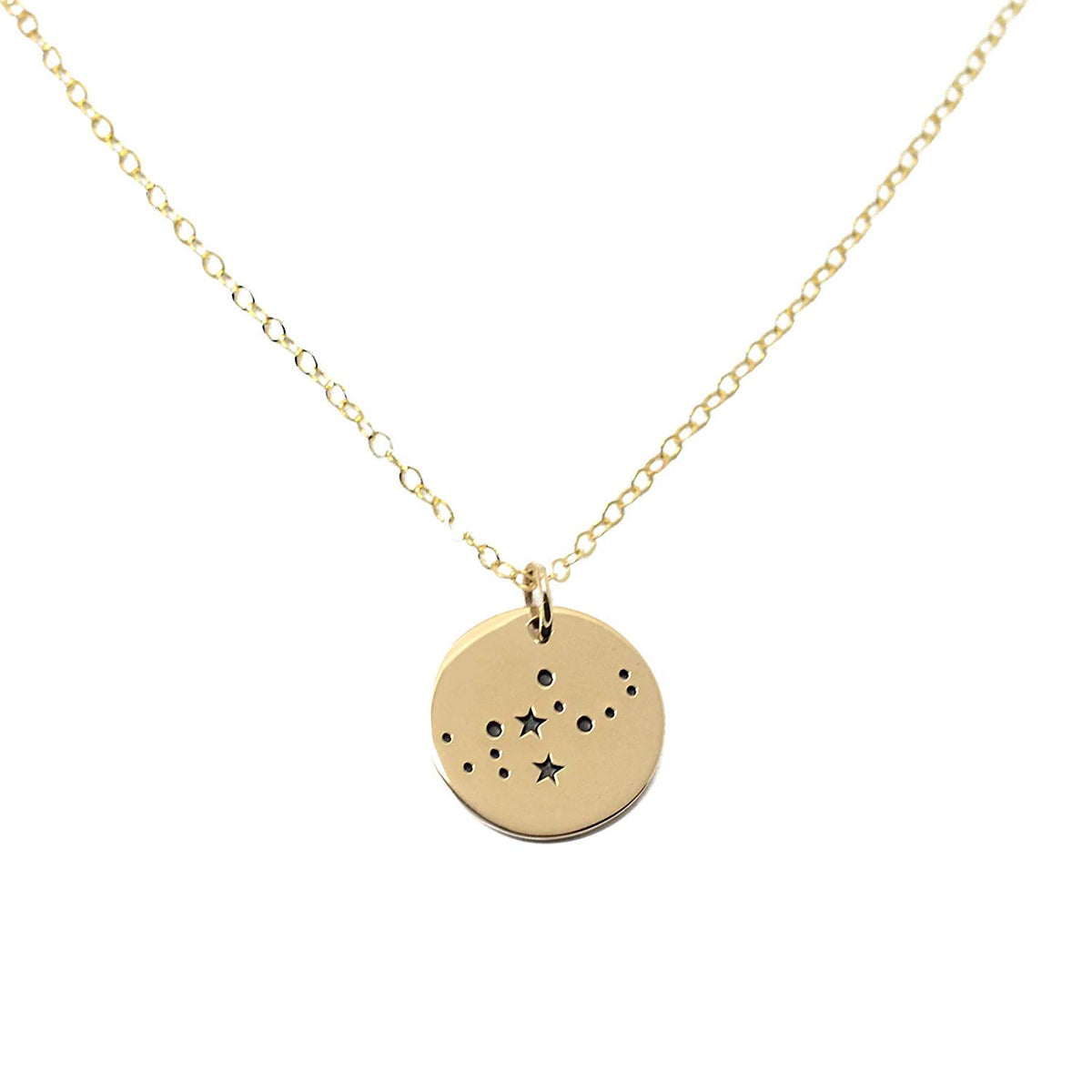 Virgo Zodiac Sign 14K Gold Filled Constellation Necklace - Love It Personalized