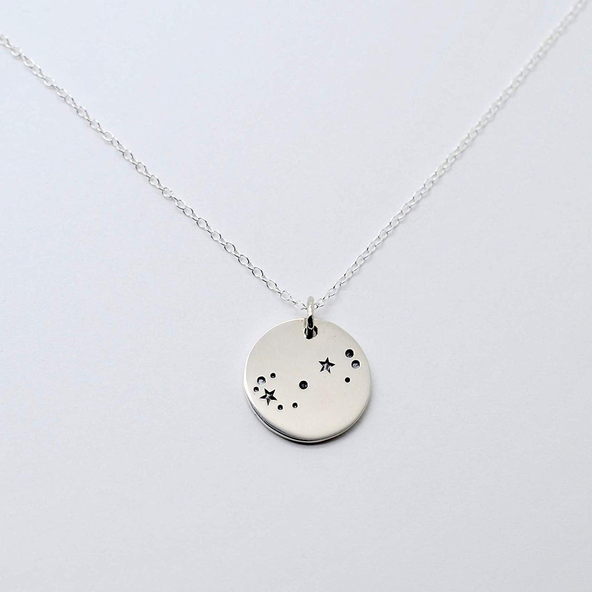 Scorpio Zodiac Sign Sterling Silver Constellation Necklace - Love It Personalized