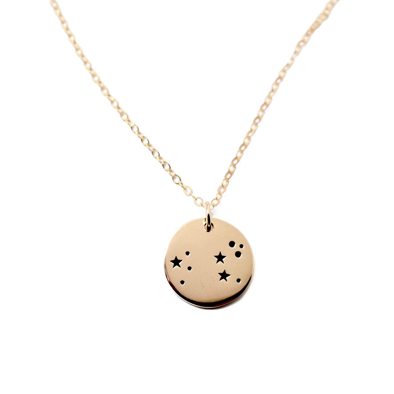 Leo Zodiac Sign 14K Gold Filled Constellation Necklace - Love It Personalized