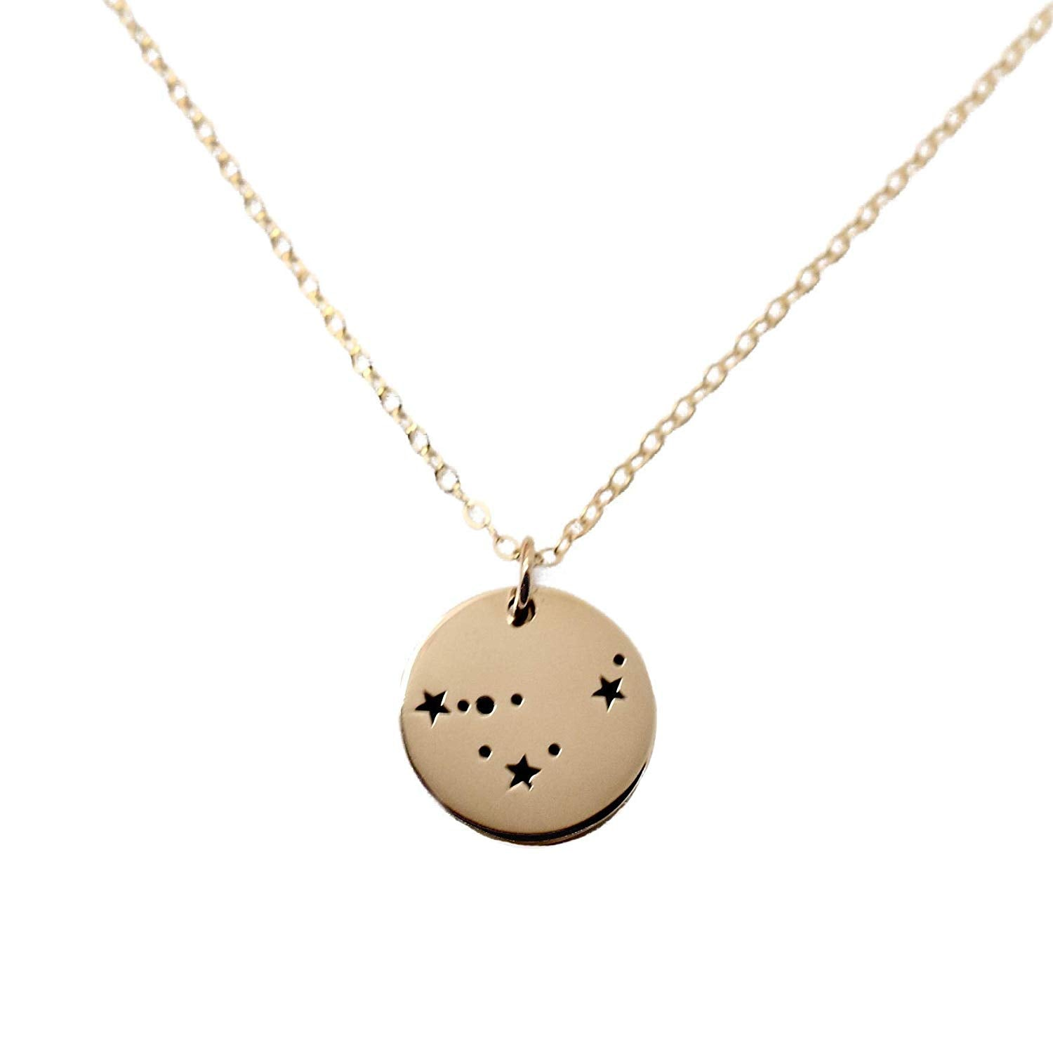 Capricorn Zodiac Sign 14K Gold Filled Constellation Necklace - Love It Personalized