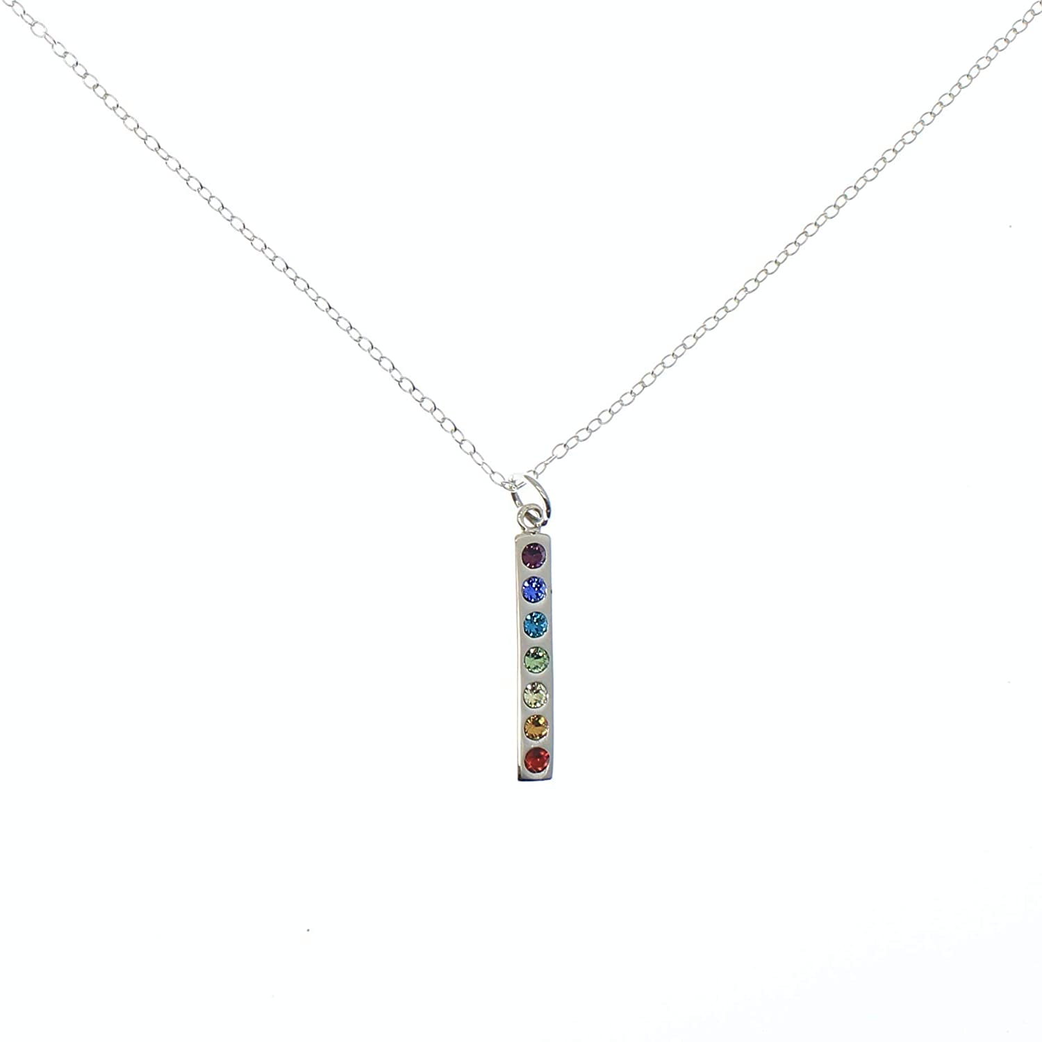 Chakra Rainbow Necklace with Crystals - Love It Personalized