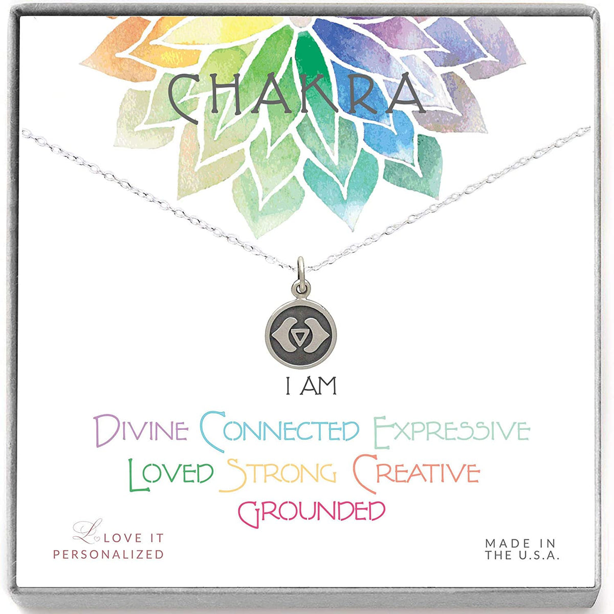 Third Eye Chakra Necklace - Love It Personalized
