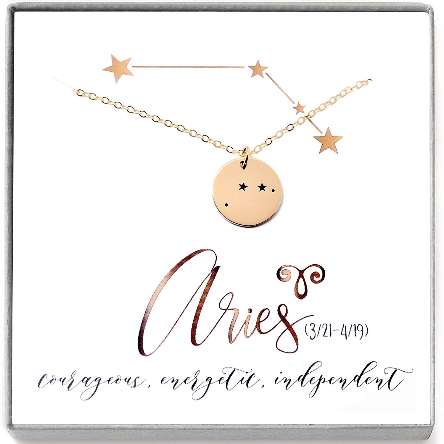 Aries Zodiac Sign 14K Gold Filled Constellation Necklace - Love It Personalized