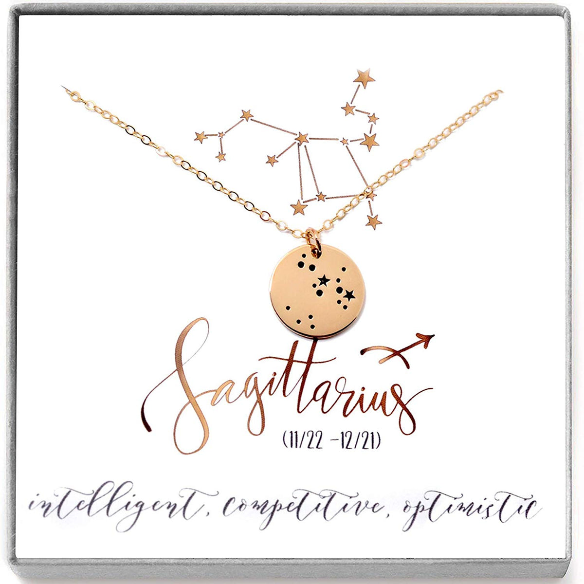 Sagittarius Zodiac Sign 14K Gold Filled Astrology Necklace - Love It Personalized