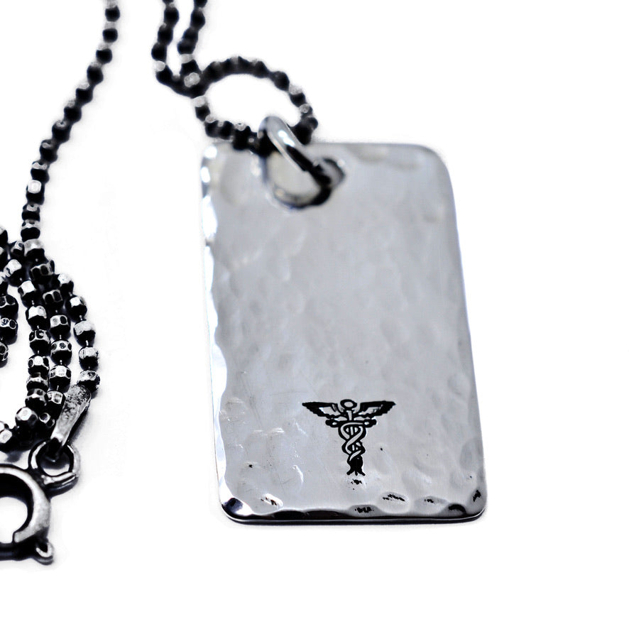 Sterling Silver Medical Alert Necklace - Love It Personalized
