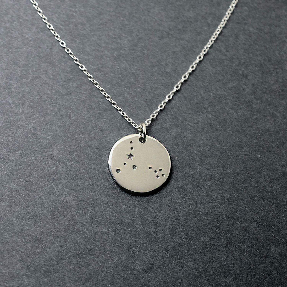 Pisces Zodiac Sign Sterling Silver Constellation Necklace - Love It Personalized