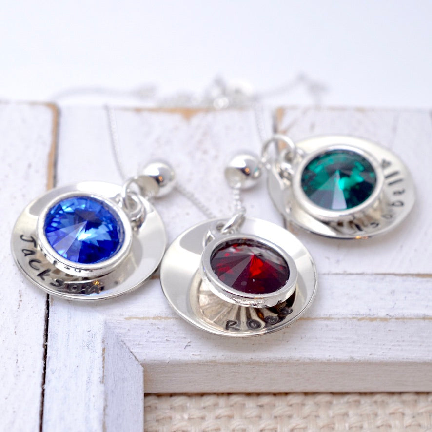 Swarovski Rivoli Birthstone Necklace - Love It Personalized