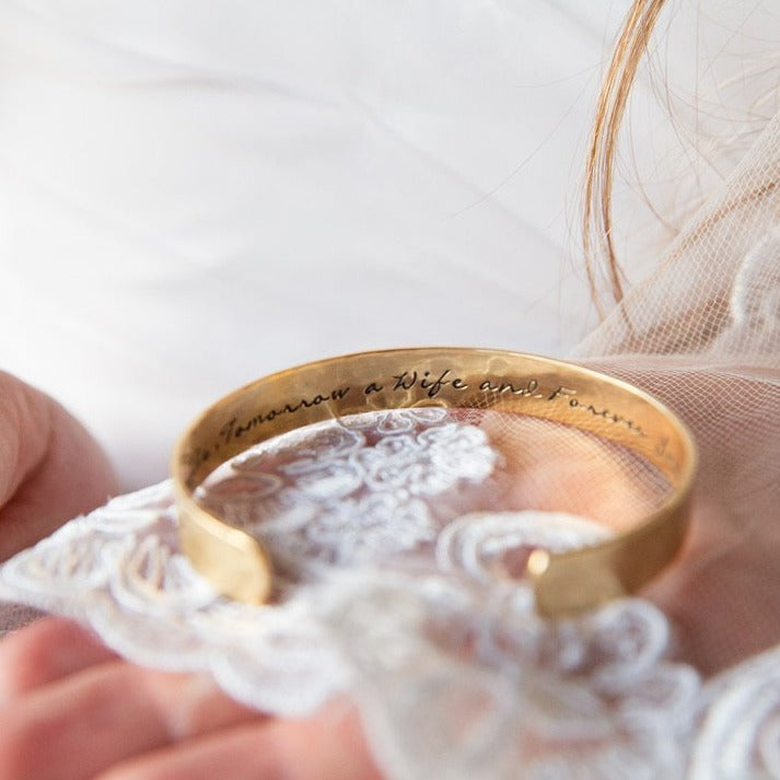 "Mother of the Bride Cuff Bracelet - 3/8"" - Love It Personalized"