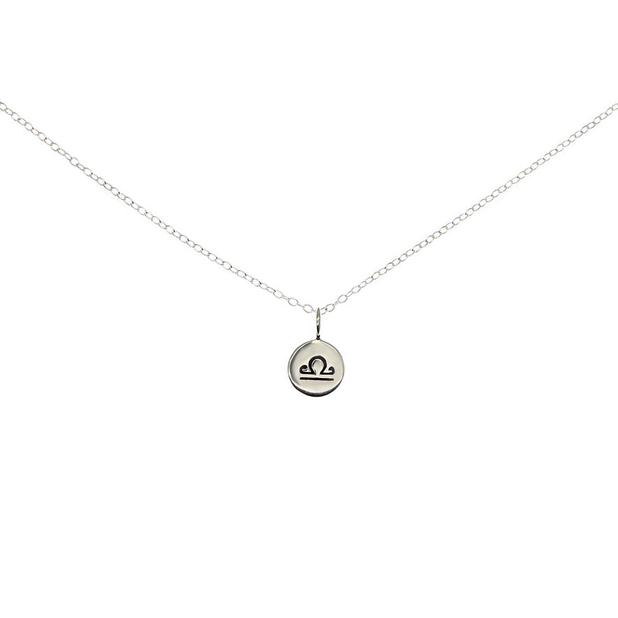 Libra Zodiac Sign Horoscope Necklace Sterling Silver - Love It Personalized