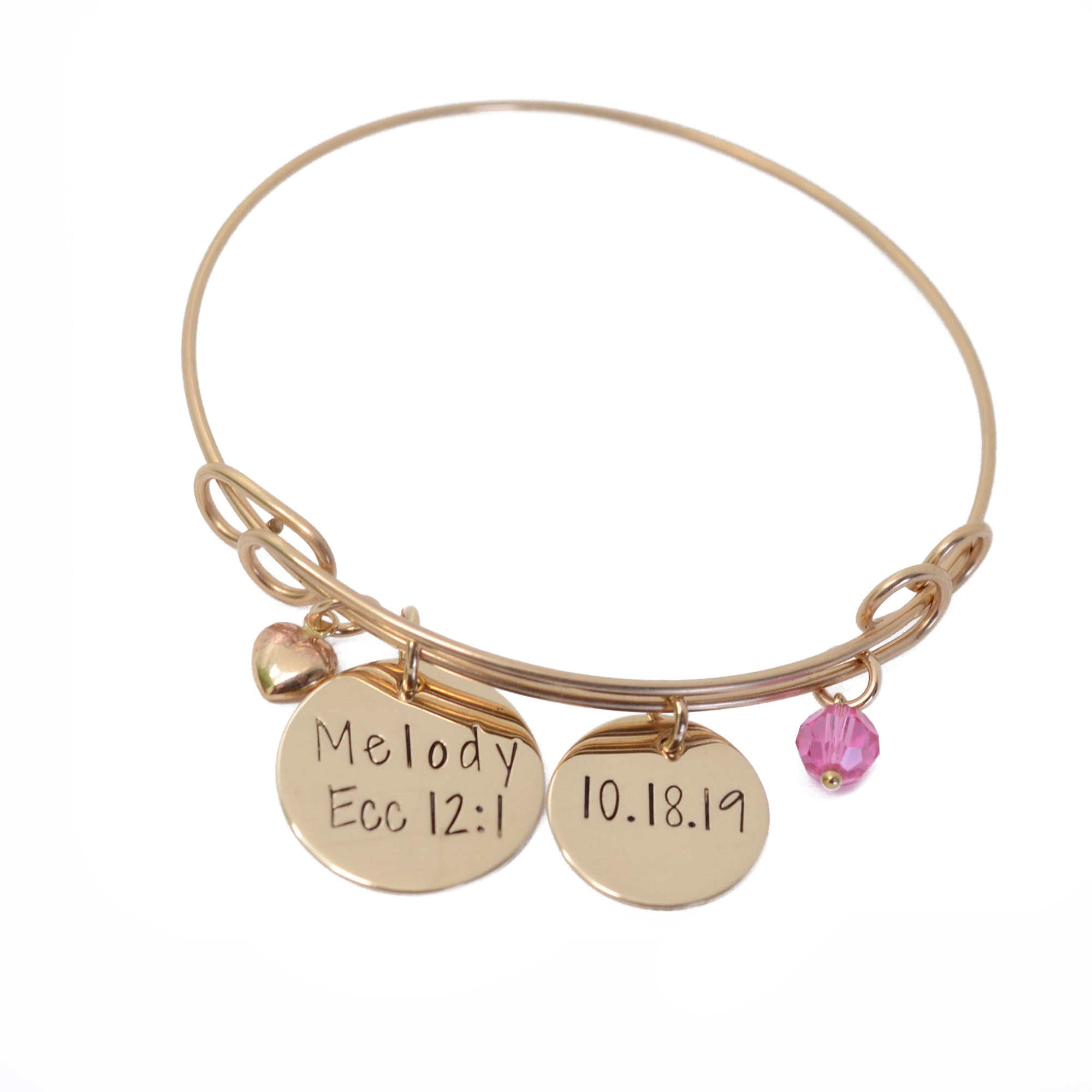 Maid of Honor 14K Gold Filled Bangle - Love It Personalized