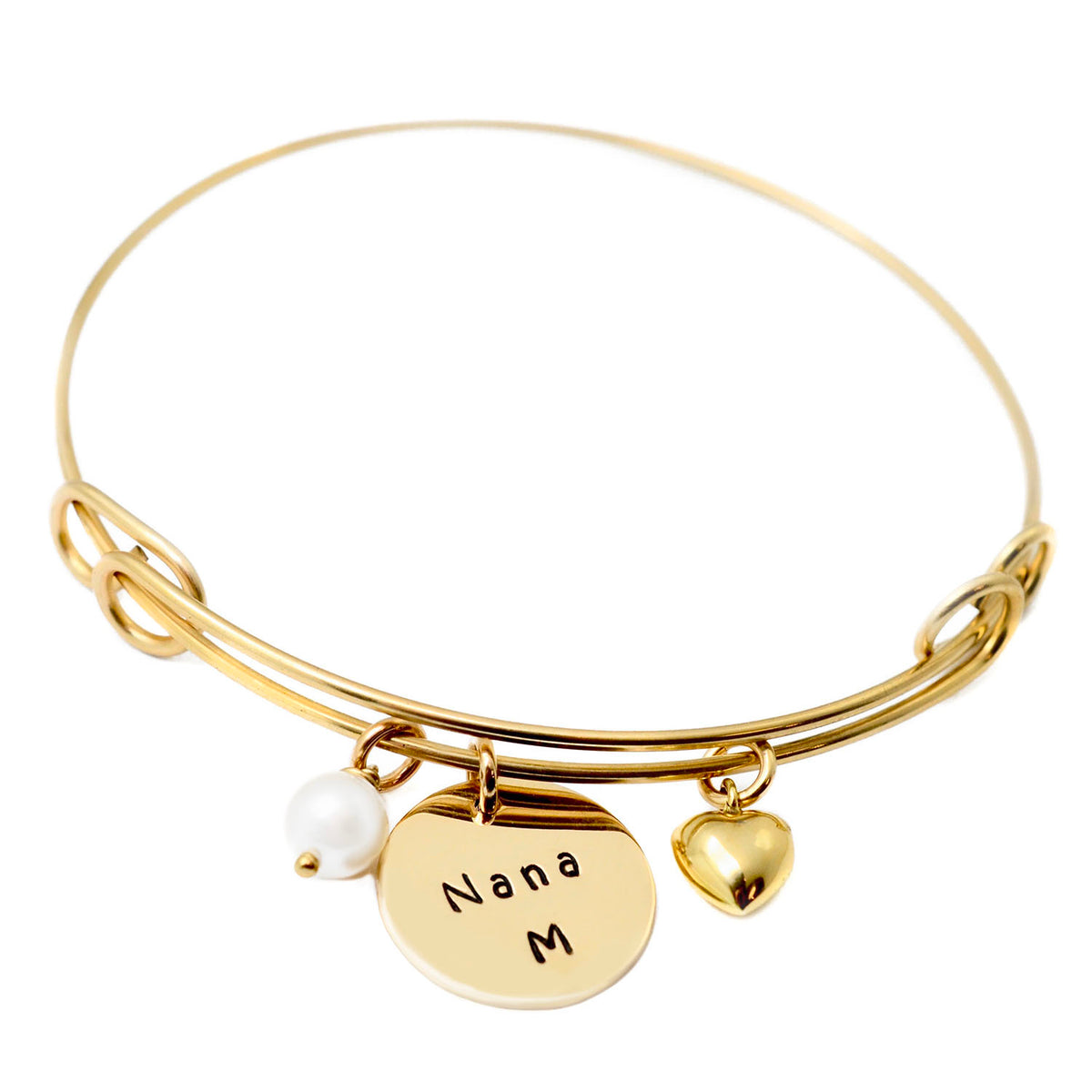 Expandable Bangle Bracelet - 14K Gold Filled - Love It Personalized