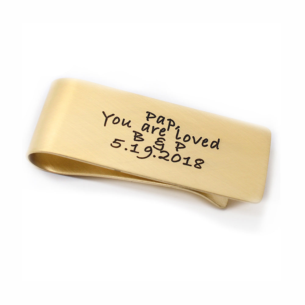 "Engraved Money Clip - 1"" x 2.5"" - Love It Personalized"
